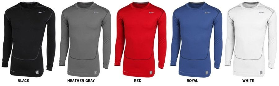 Nike Pro Combat Core Compression 2.0 Adult Long Sleeve Shirt