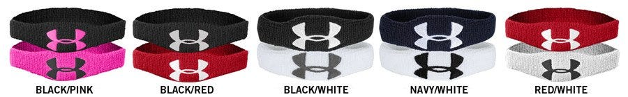 Under Armour Oversized Logo 1/2 in. Performance Wristband - 4 Pack