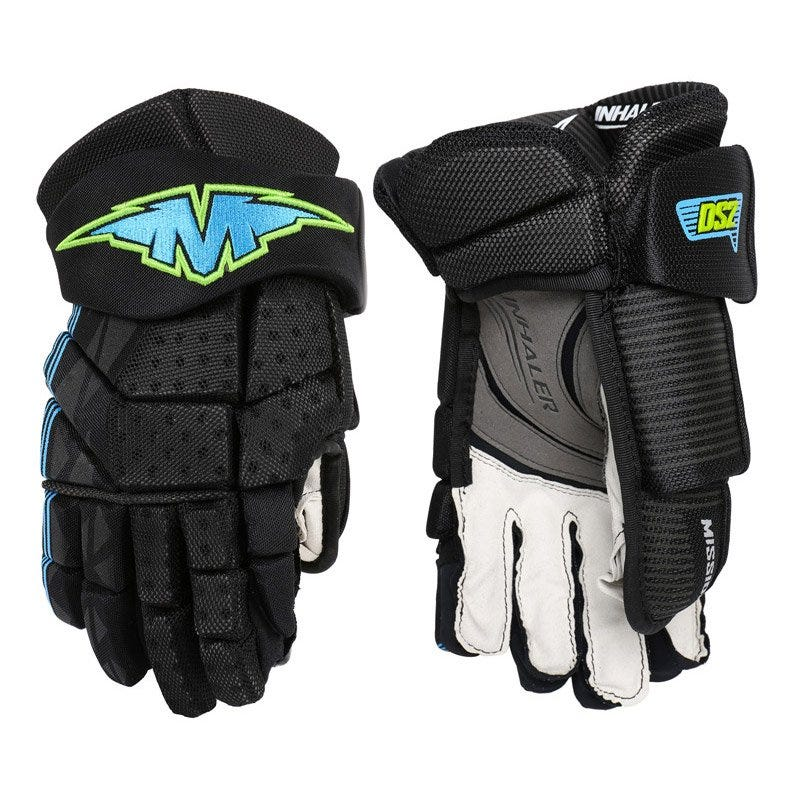 Image of Inhaler DS2 Hockey Gloves; Adult Black 11 Inch Junior - Mission