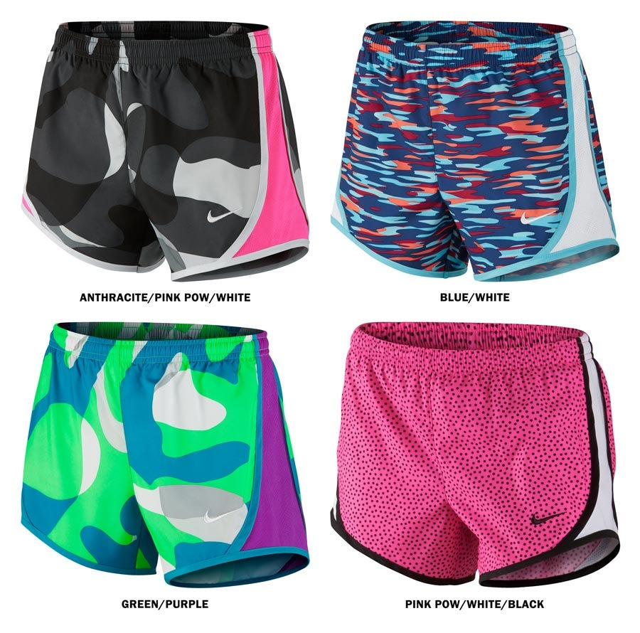 f29cda51cf19 Nike Tempo Allover Print Girl's Shorts
