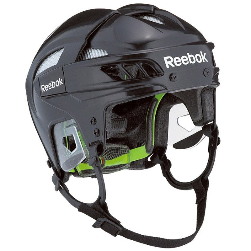 Image of Adult Pro Hockey Helmet 11K; Black/Red Size Small - Reebok