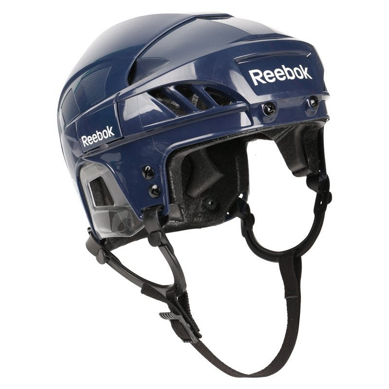 Image of Reebok 5K Pro Adult Ice Hockey Helmet; Size Small - Navy