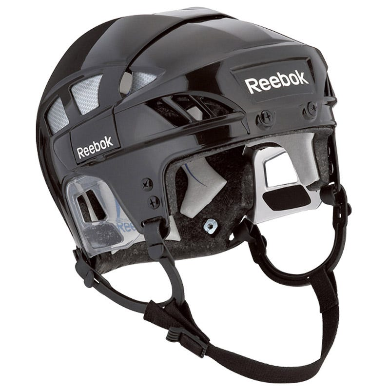Image of Pro Reebok 7K Adult Hockey Helmet; Black/Red - Size Small