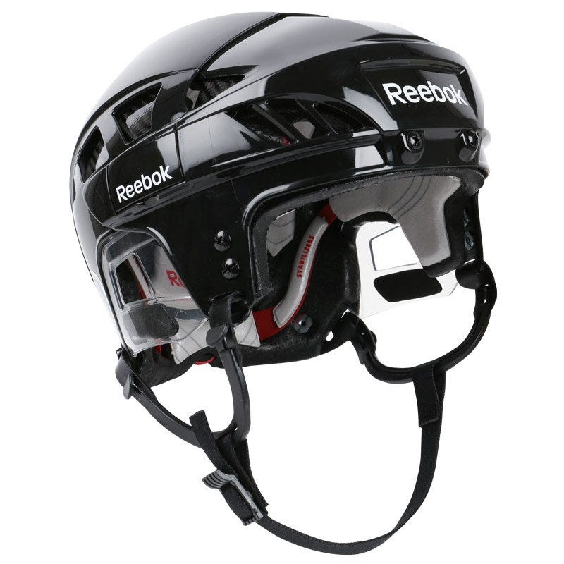 Image of Pro Reebok 8K Adult Hockey Helmet; Red/Red - Size Small