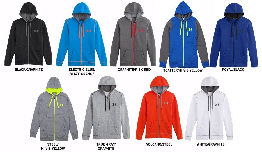 Under Armour Rival Cotton Adult Full Zip Hoody