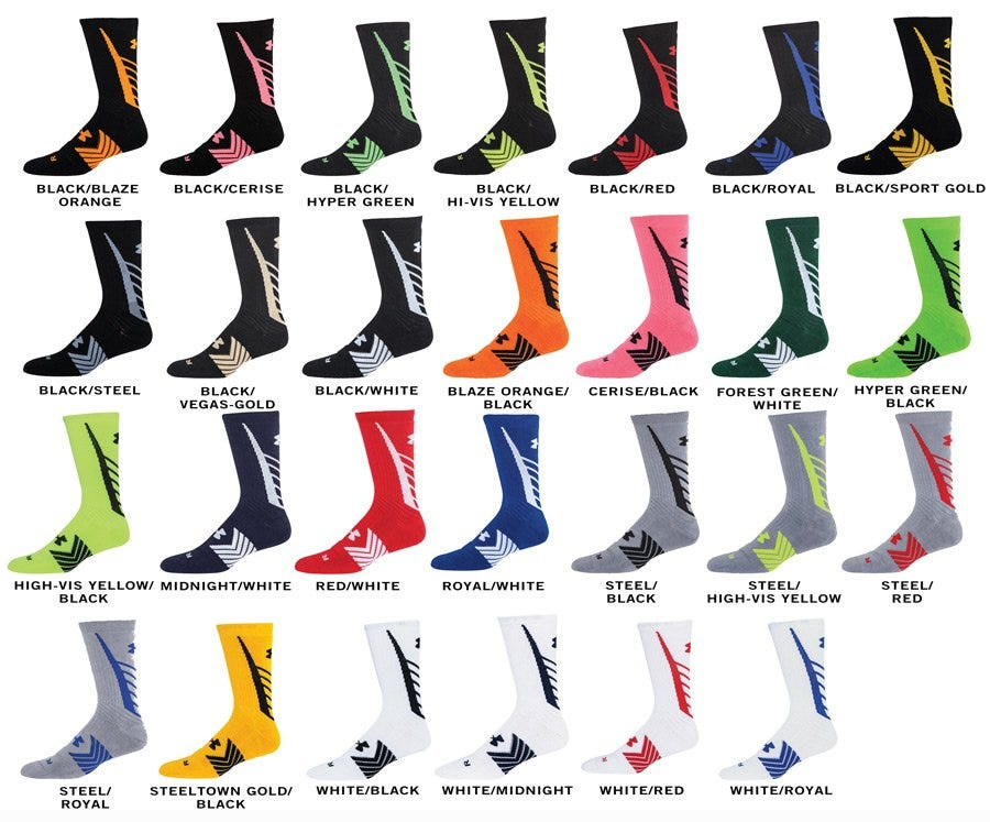 Under Armour Undeniable Adult Crew Socks