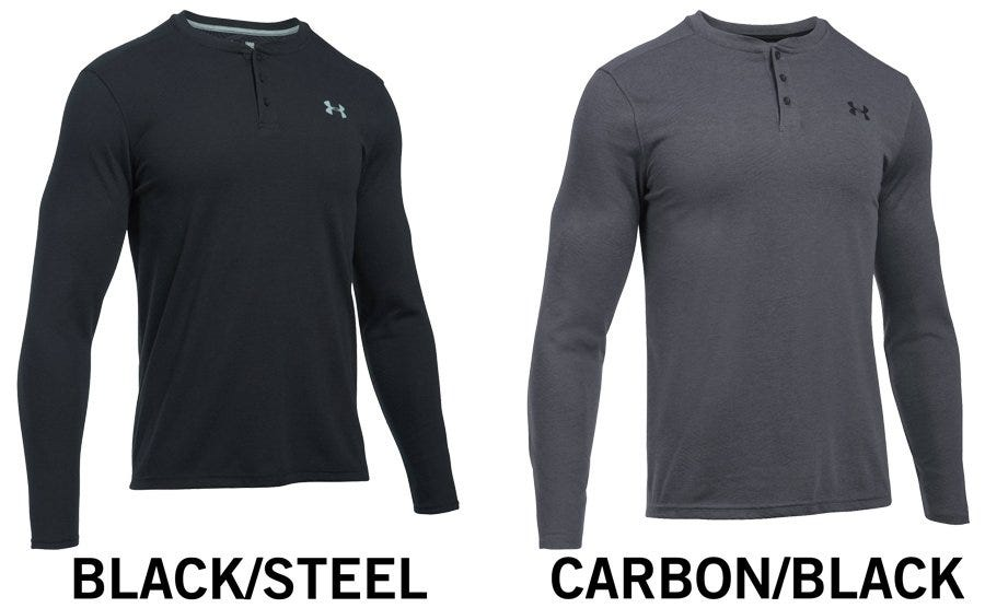 Under Armour ColdGear Infrared Lightweight Henley Men's Long Sleeve Shirt