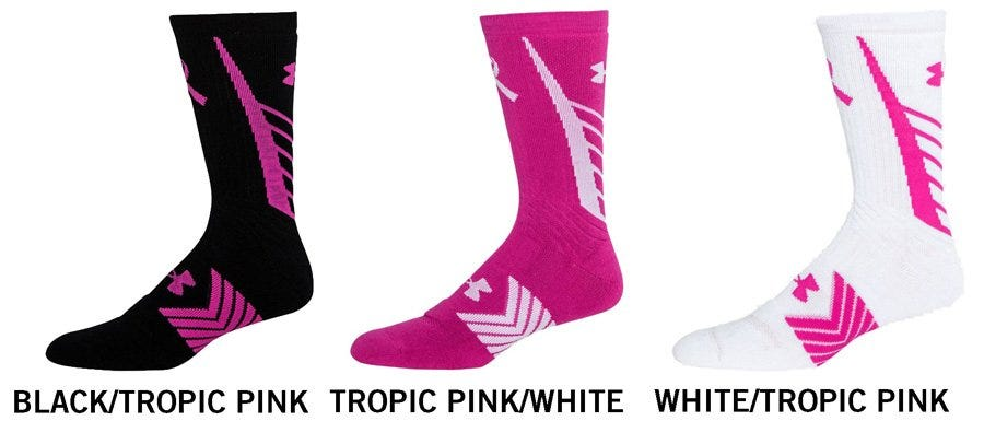 Under Armour Undeniable Power In Pink Menu0027s Crew Socks