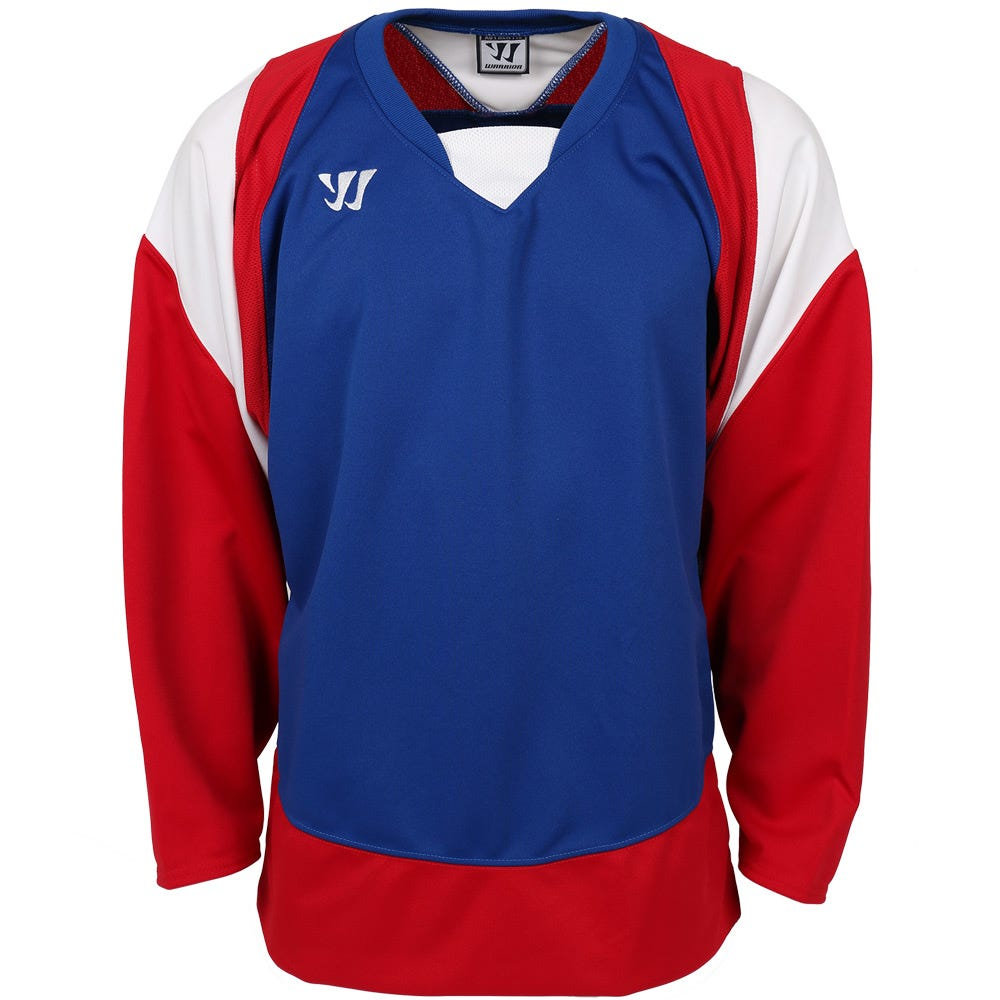 6cc78953 SKU-MS1209537 Warrior Lightning KH300 Junior Hockey Jersey -  Royal/Red/White from