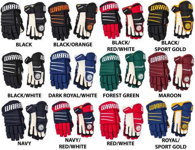 Warrior Alpha QX4 Senior Hockey Gloves