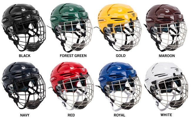Warrior Krown LTE Hockey Helmet Combo