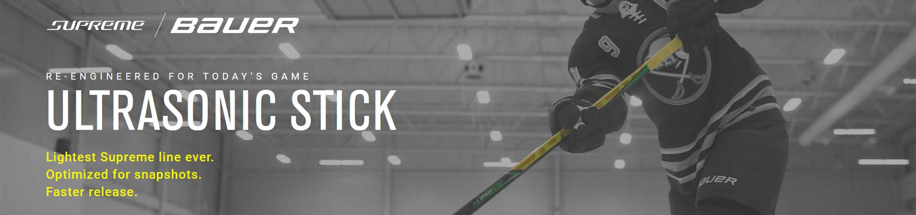 Bauer Supreme Ultrasonic hockey sticks