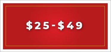 $25 - $49