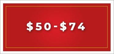 $50 - $74
