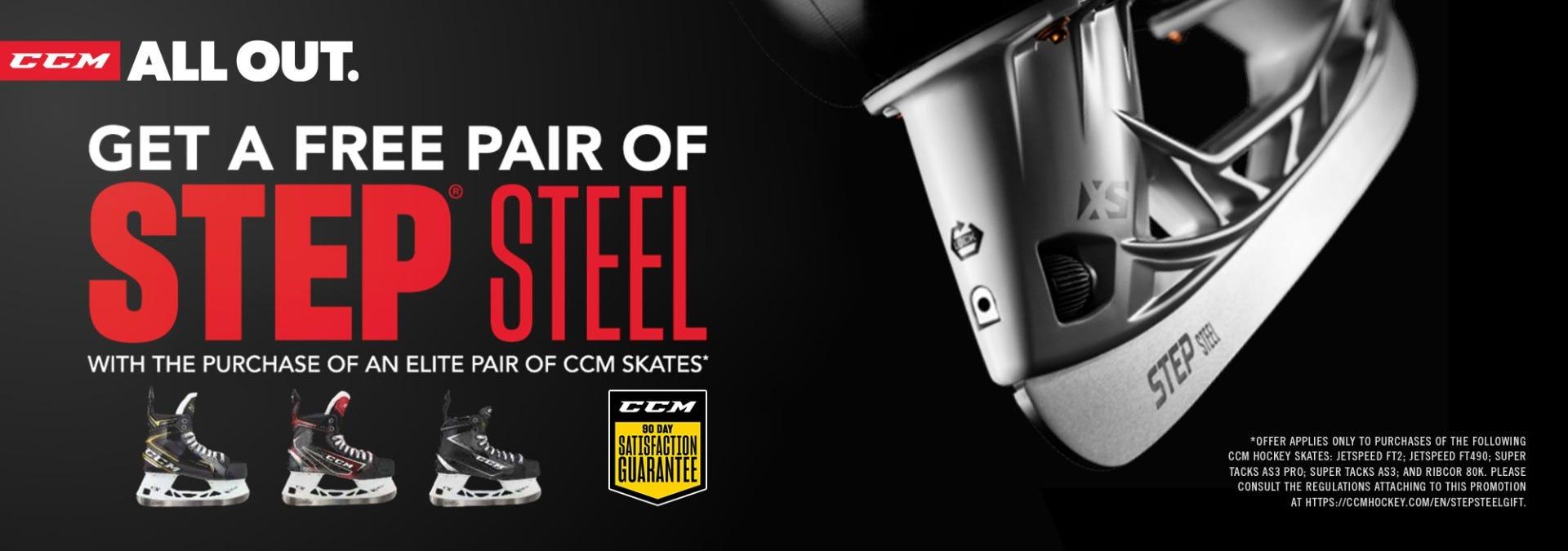 Free Step Steel with CCM Premier Skates
