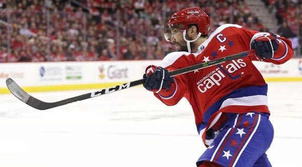 Alex Ovechkin Hockey Stick Toe Taping