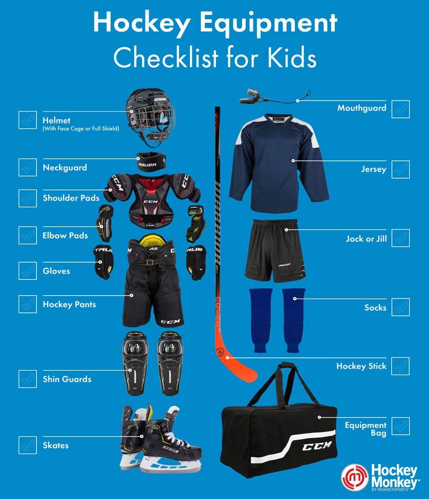 Youth Hockey Equipment Visual Checklist
