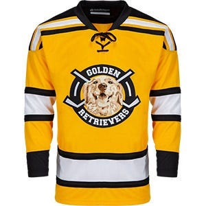front of custom hockey jersey